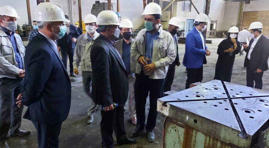 بازدید دکتر حسن تاجیک مدیرعامل هلدینگ آتیه صبا از شرکت تولیدی تجهیزات ایمنی راهها